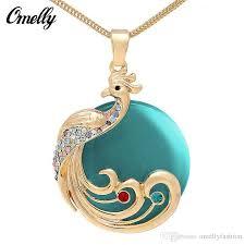 opal necklace vintage images Wholesale vintage design 18k gold filled crystal opal stone jpg