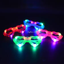 party sunglasses with lights fun cool light up heart shape glasses led flashing blinking eye