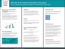 template for poster presentation free download research poster