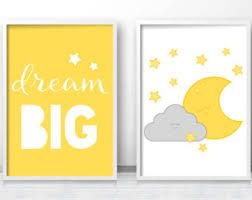 Yellow Gray Nursery Decor Yellow Nursery Decor Etsy