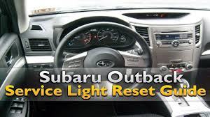 subaru outback service light reset youtube