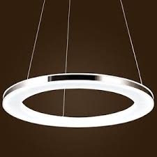 Circle Chandelier Ouku Silver Ring Led Chandelier Galaxy Ceiling Lights