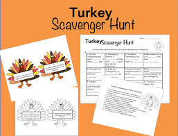 thanksgiving scavenger hunt by to learning and beyond tpt