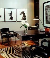 lucite desk contemporary den library office blair gordon design