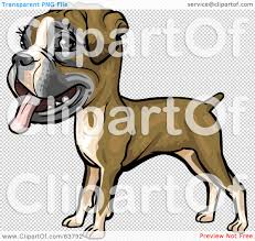 boxer dog yard art royalty free rf clipart illustration of a friendly boxer dog by