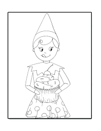 coloring pages of elf elf on the shelf coloring pages elf on the shelf coloring pages free