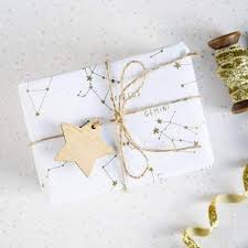 metallic gift wrap golden constellations metallic gift wrap wrapping paper set