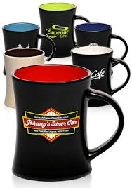 custom 10 oz aztec diner flare two tone coffee mugs 7158