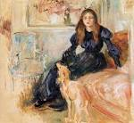 Julie Manet and her Greyhound Laerte - Berthe Morisot - WikiPaintings. - Downloadable