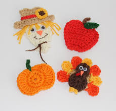 fall appliques scarecrows fall applique and crochet