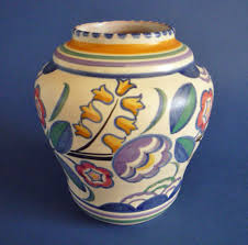 Poole Pottery Vase Patterns Poole Pottery Bq Pattern Vase By Truda Carter C1930