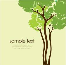 set of card with trees background vector 03 vector background