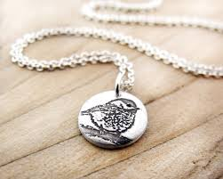 Gift For Wife Tiny Chickadee Necklace Silver Bird Jewelry Bird Necklace