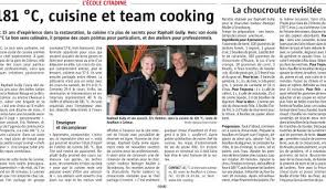 cours de cuisine mulhouse journal l alsace 181 c cuisine et team cooking 181 c le