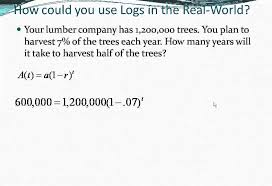solving logarithmic equations word problems youtube