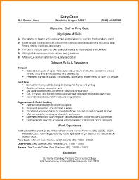 prep cook resume examples resume for your job application