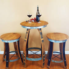 Wine Barrel Bar Table Wine Barrel Pub Table Central Coast Creations