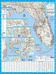 orlando fl zip code map amazon com florida road map glossy poster picture photo state