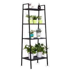 zimtown 4 tier leaning ladder shelf bookcase bookshelf storage