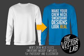 men u0027s crew neck sweatshirt templates product mockups creative