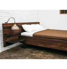Hollywood Loft King Bedroom Set Colby Reclaimed Wood Industrial Loft King Bed With Side Tables