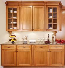 Wainscoting Kitchen Cabinets Oak Cabinet Kitchen Attractive Home Design