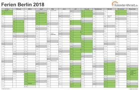 Kalender 2018 Hessen Din A4 Ferien Berlin 2018 Ferienkalender Zum Ausdrucken