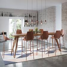 modern rustic urban mid century bar bench kitchen dining table