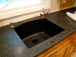white sink black countertop pros and cons of purchasing a black granite composite sink regarding