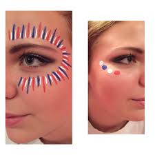 high football spirit face paint war paint game day crafts