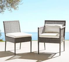 Outdoor Wicker Dining Chair Cammeray All Weather Wicker Dining Armchair Pottery Barn