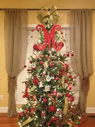 monogram tree topper monogram christmas tree topper front door letter by hangupsandmore