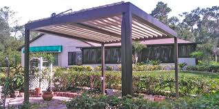 Louvered Roof Pergola by Outdoor Living Photo Gallery U0026 Design Ideas Tampa Bay Area