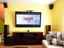 home theater screen paint flat wall paint apartment bedroom with wall mounted flat tv and