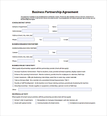 sample business partner agreement 7 free documents download in
