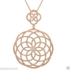 vintage lace necklace images 1 91ct 14k rose gold vintage lace antique design round diamond jpg