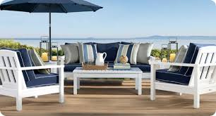 Wood Framed Outdoor Sofa - White outdoor sofa