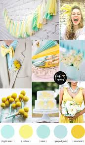 Color Palette Yellow by Summer 2016 Wedding Color Palette Mint Green And Everything
