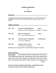 Good Resume Design Examples Of Resumes Resume Template Objectives For Customer