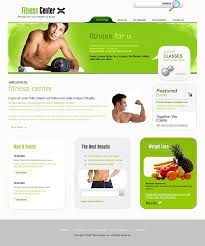 html layouts for fitness centers