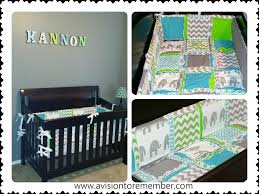 customer submission elephant crib bedding a vision to remember