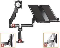 Laptop Desk Arm Chief Kgl220 Height Adjustable Monitor Laptop Dual Arm Desk Mount