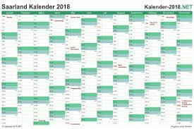 Kalender 2018 Mit Feiertagen Saarland Kalender 2018 Saarland