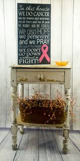 breast cancer encouragement gift awareness wood sign pink