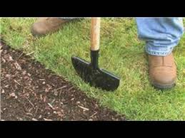 Flower Bed Edger Lawn Care U0026 Landscaping How To Use A Manual Lawn Edger Youtube