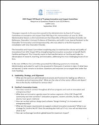 how to write strategy paper reports innovate carolina this paper responds to the questions posed to the administration by board of trustees committee on innovation and impact chair phil clay in his memorandum