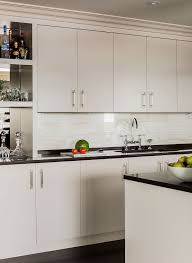 ivory flat front bar cabinets design ideas