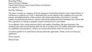 judicial clerk cover letter judicial clerkship cover letter