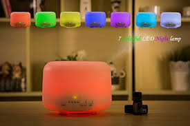 Cool Led Lights For Bedroom Solidpin 500ml Aromatherapy Essential Oil Diffuser Cool Mist Air