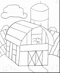 beautiful buildings farm coloring page with farm coloring pages